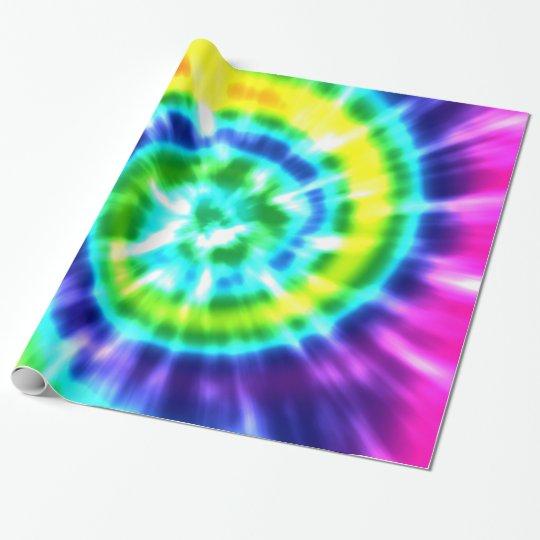 Hippy Peace Retro Tie Dye Colourful Boho Wrapping