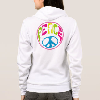 Hippy Peace Sign Hoodie
