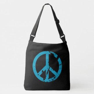 Hippy Peace Sign Retro Boho Crossbody Bag