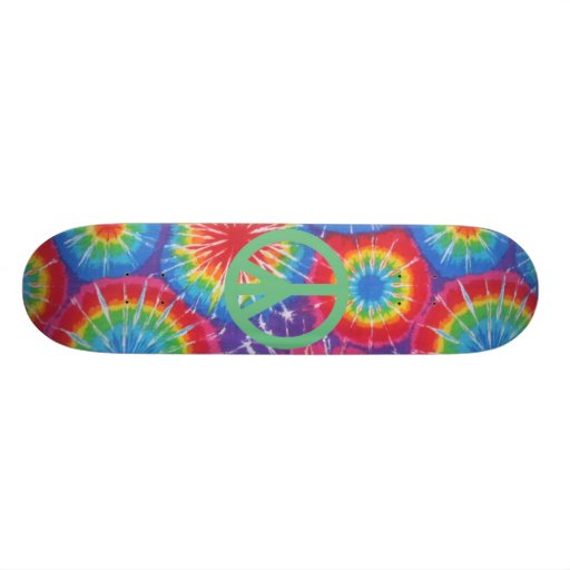 Hippy Peace Tie Dye Skateboard