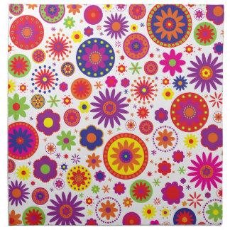 Hippy Rainbow Flowers Napkin