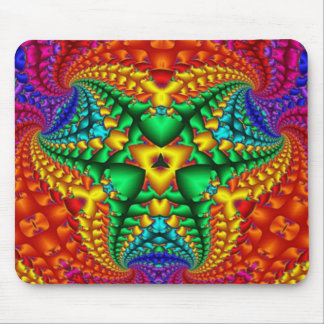 Hippy Rainbow Psychedelic Fractal Mouse Mat
