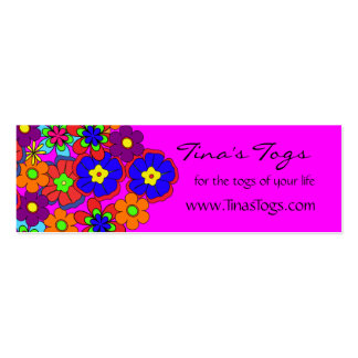 Hippy Retro Flowers Business Card Templates