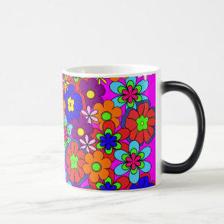 Hippy Retro Flowers Coffee Mugs