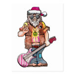 "Hippy Santa says ""Cool Yule"" Postcard"