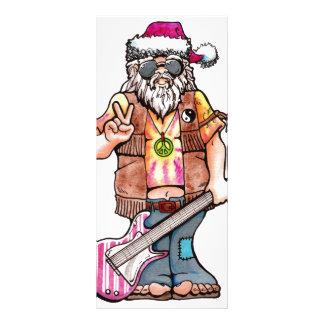 "Hippy Santa says ""Cool Yule"" Custom Rack Cards"