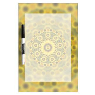 Hippy Sunflower Fractal Mandala Pattern Dry Erase Board