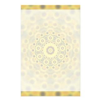Hippy Sunflower Fractal Mandala Pattern Stationery
