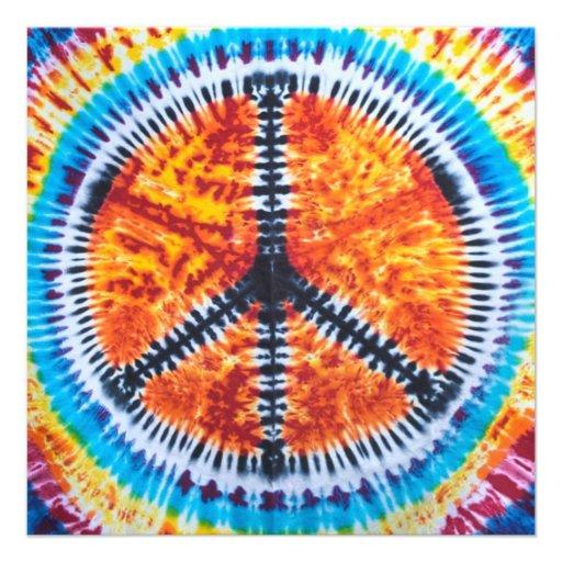 Hippy Tie Dye Invitation