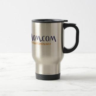 HippyMom Silver Travel Mug