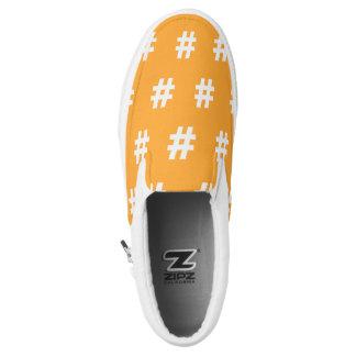 Hipstar Hashtag Orange Slipon Sneaker Slip-On Shoes