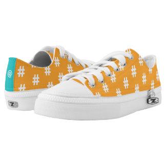 Hipstar Hashtag Orange Sneakers