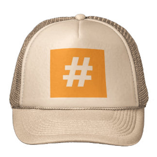 Hipstar Hashtag Trucker Hat (Orange)