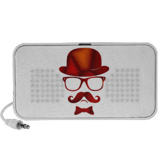 Hipster 1b derby moustache glasses portable speakers