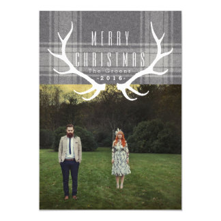 Hipster Antlers | Christmas Photo Card