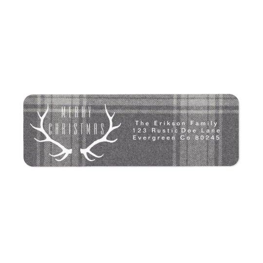 Hipster Antlers | Christmas Return Address Label