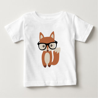 Hipster Baby Fox w/Glasses Baby T-Shirt
