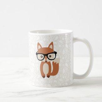 Hipster Baby Fox w/Glasses Coffee Mug