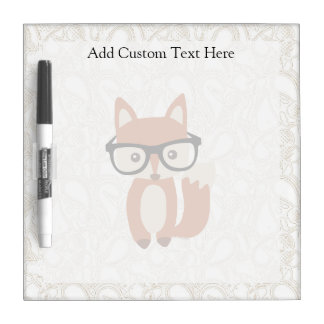 Hipster Baby Fox w/Glasses Dry Erase Boards