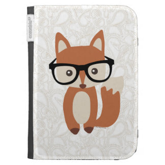Hipster Baby Fox w/Glasses Kindle Cases
