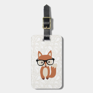 Hipster Baby Fox w/Glasses Luggage Tag