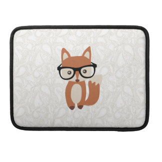 Hipster Baby Fox w/Glasses Sleeve For MacBooks