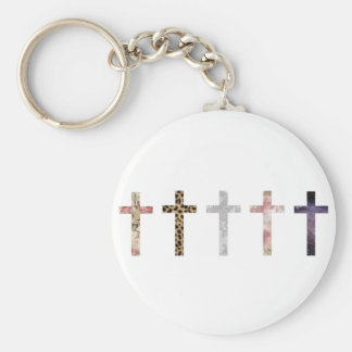 Hipster Basic Round Button Key Ring