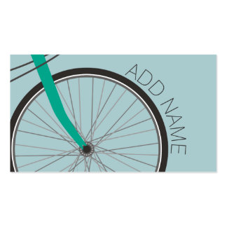 Hipster Bicycle Wheel with Custom Name Business Card Templates