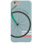 Hipster Bicycle Wheel with Custom Name Barely There iPhone 6 Plus Case