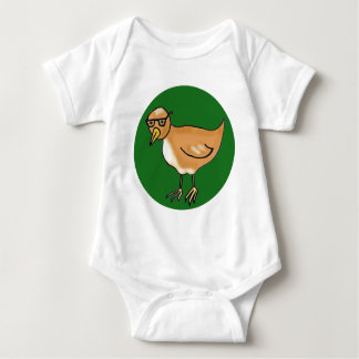 Hipster Bird Baby Bodysuit