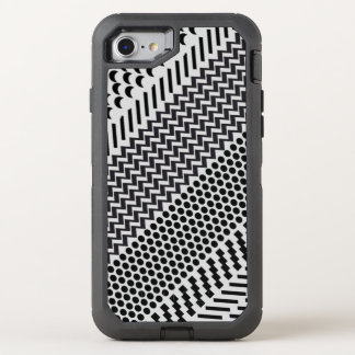 Hipster Black and White Geometric Pattern OtterBox Defender iPhone 7 Case
