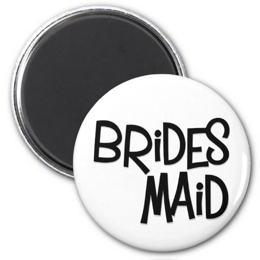 Hipster Bridesmaid 6 Cm Round Magnet