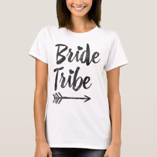 Hipster Bridesmaids Bride Tribe Script Arrow T-Shirt