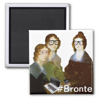 Hipster Bronte Sisters Square Magnet