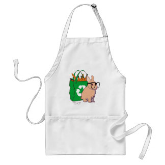 Hipster Bunny Apron (without text)