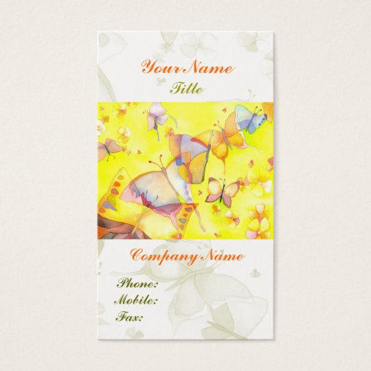 Hipster Butterfly Artistic Fashion Business Cards