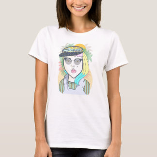 Hipster California Girl T-Shirt