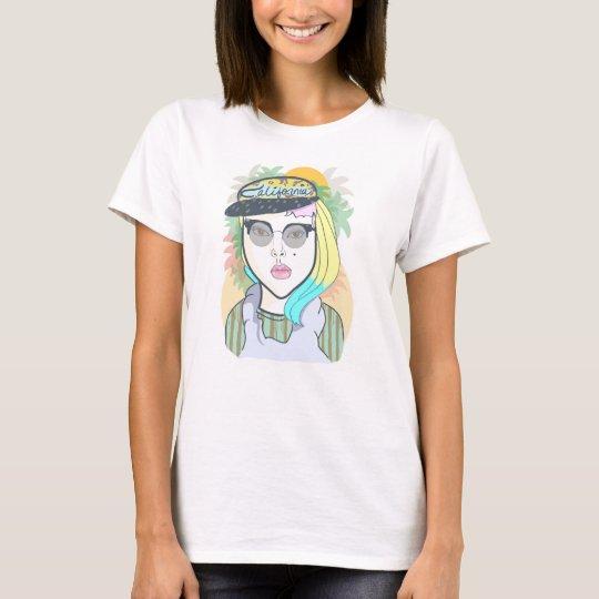 Hipster California Girl T-Shirt