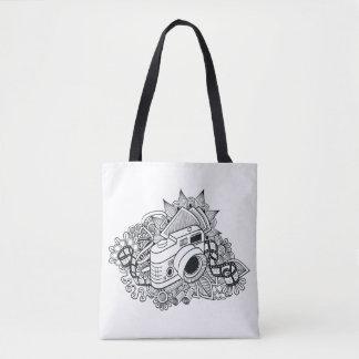 Hipster Camera Doodle 2 Tote Bag