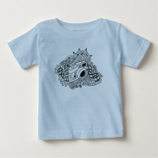 Hipster Camera Doodle Baby T-Shirt