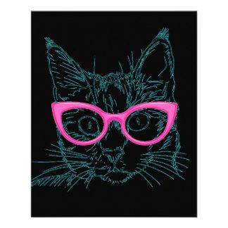 Hipster Cat 11.5 Cm X 14 Cm Flyer