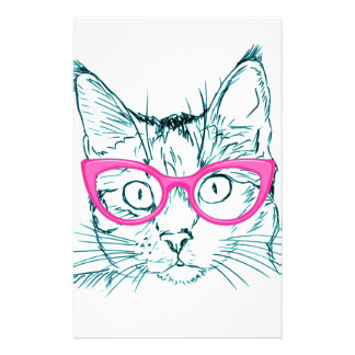 Hipster Cat 14 Cm X 21.5 Cm Flyer