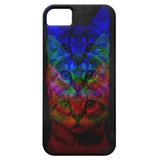 HIPSTER CAT ART BARELY THERE iPhone 5 CASE