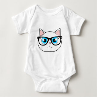 Hipster Cat Baby Bodysuit