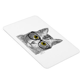 Hipster Cat - Cat Humor Flexible Magnets