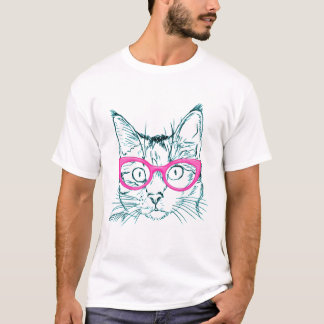 Hipster Cat Funny Style T-Shirt