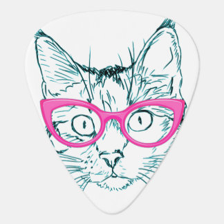 Hipster Cat Guitar Pick