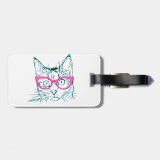 Hipster Cat Luggage Tag