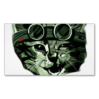 HIpster Cat Magnetic Business Cards