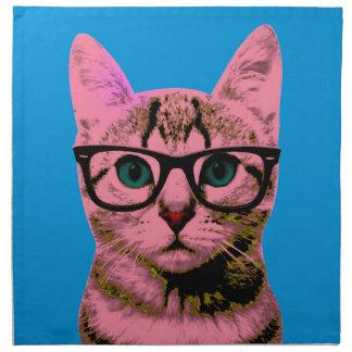 Hipster Cat Napkin